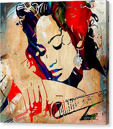 Jennifer Lopez Collection Canvas Print by Marvin Blaine