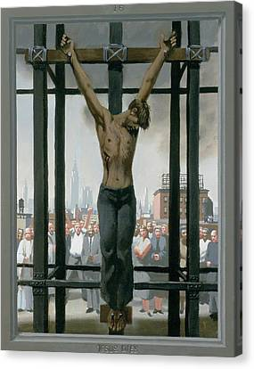 15. Jesus Dies / From The Passion Of Christ - A Gay Vision Canvas Print by Douglas Blanchard