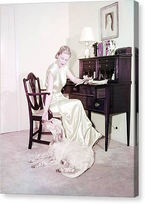 Joan Fontaine Canvas Print