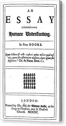 John Locke (1632-1704) Canvas Print by Granger