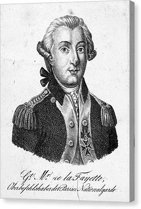 Marquis De Lafayette (1757-1834) Canvas Print by Granger