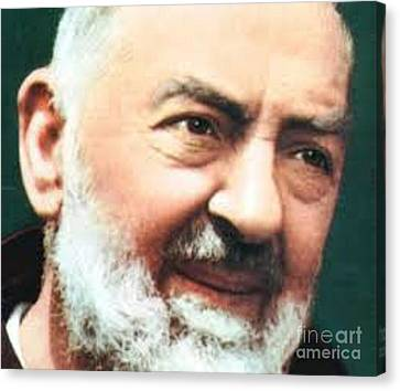 Padre Pio Canvas Print by Archangelus Gallery