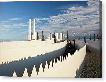 Parts For The Walney Offshore Wind Farm Canvas Print