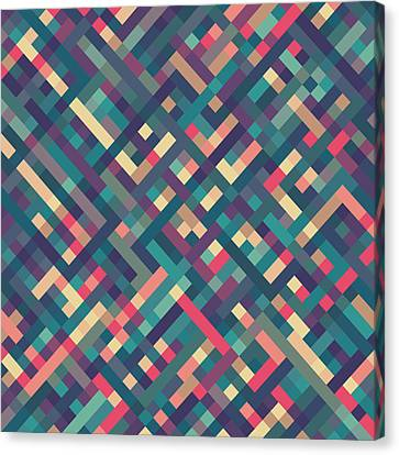 Mike Taylor Canvas Print - Pixel Art by Mike Taylor