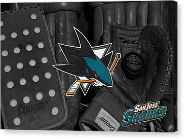 San Jose Sharks Canvas Print by Joe Hamilton