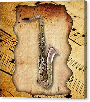 Saxophone Canvas Print - Saxophone Collection by Marvin Blaine