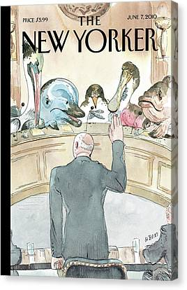 New Yorker June 7th, 2010 Canvas Print by Barry Blitt