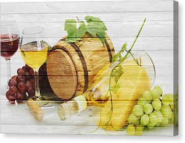 Grape Vines Canvas Print - Wine by Joe Hamilton