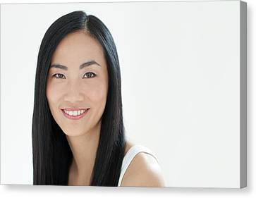 Chinese Ethnicity Canvas Print - Woman Smiling by Ian Hooton