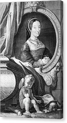 Catherine White Canvas Print - 1500s Portrait Catherine Howard Fifth by Vintage Images