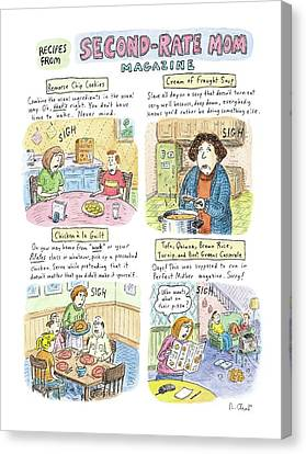Recipes From Second-rate Mom Magazine Canvas Print