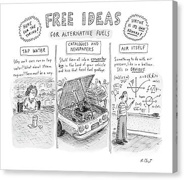 Free Canvas Print - Free Ideas For Alternative Fuels by Roz Chast