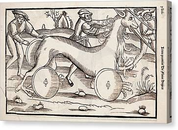 1532 A War Machine In The Form Of A Horse Canvas Print by Paul D Stewart