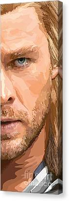 Thor Canvas Print - 158. Give Me One Of Those Large Enough To Ride. by Tam Hazlewood