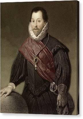 1580 Sir Francis Drake Tudor Explorer Canvas Print