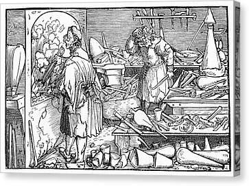 15th Century Alchemist's Laboratory Canvas Print