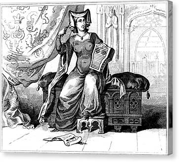 1420 Canvas Print - 15th Century British Dress by Collection Abecasis