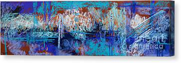 Bridges To Nowhere Canvas Print by Tracy L Teeter