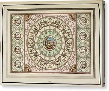 Antique Grotesque Ceilings Canvas Print