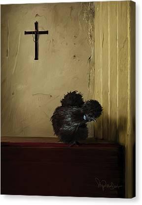16. Black Silkie Canvas Print