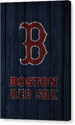 Player Canvas Print - Boston Red Sox by Joe Hamilton