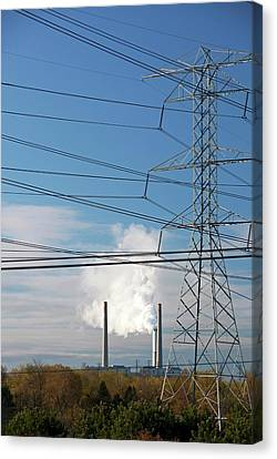 Coal-fired Power Station Canvas Print by Jim West