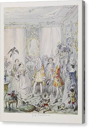 Cruikshank's Water Colours Canvas Print by British Library