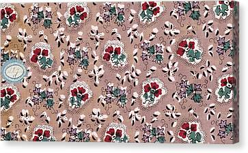 Authentic Inspiration Canvas Print - French Fabrics First Half Of The Nineteenth Century 1800 by Litz Collection