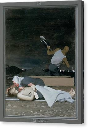 16. Jesus Is Buried / From The Passion Of Christ - A Gay Vision Canvas Print by Douglas Blanchard