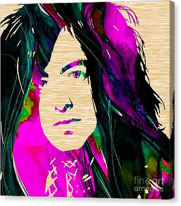 Jimmy Canvas Print - Jimmy Page Collection by Marvin Blaine