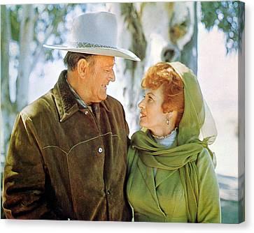John Wayne Canvas Print by Silver Screen