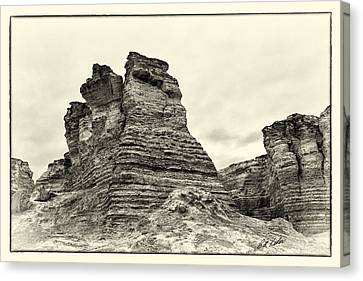 Monument Rocks - Chalk Pyramids Canvas Print