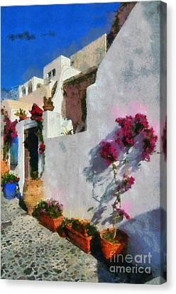 Oia Town Canvas Print