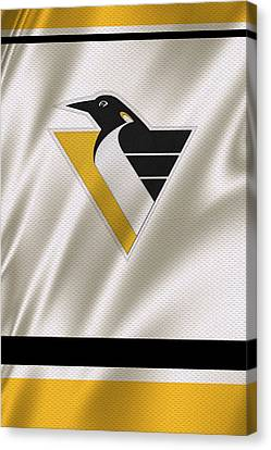 Skates Canvas Print - Pittsburgh Penguins by Joe Hamilton