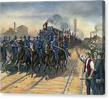 Pullman Strike, 1894 Canvas Print