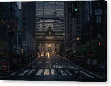 Crosswalks Canvas Print - Untitled by David Mart?n Cast?n
