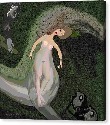 160 - Dizzy Spin 2   Canvas Print by Irmgard Schoendorf Welch