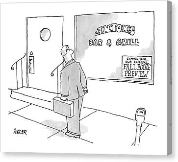 New Yorker September 11th, 2006 Canvas Print