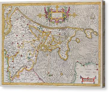 1606 Mercator Map Of Holland Canvas Print
