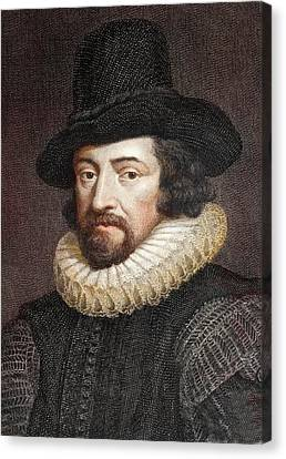 1618 Sir Francis Bacon Scientist Portrait Canvas Print by Paul D Stewart