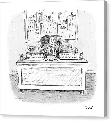 Labelled Canvas Print - New Yorker December 6th, 2004 by Roz Chast