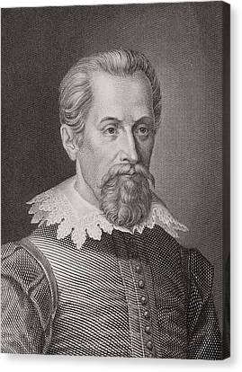 1620 Johannes Kepler Astronomer Portrait Canvas Print by Paul D Stewart