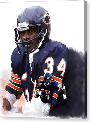 Walter Payton Canvas Print - Sweet Chicago Walter Payton by Iconic Images Art Gallery David Pucciarelli