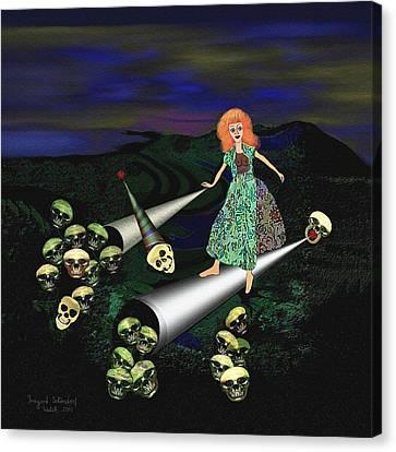 165 -   Lindas Nightwalk Canvas Print by Irmgard Schoendorf Welch