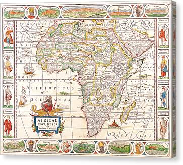 1658 Antique Africa Map Canvas Print by Dan Sproul