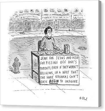 New Yorker October 25th, 2004 Canvas Print by Roz Chast