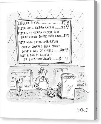 Cheese Canvas Print - New Yorker August 14th, 2000 by Roz Chast