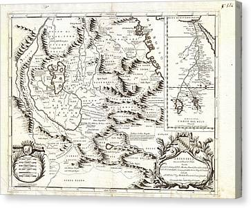 1690 Canvas Print - 1690 Coronelli Map Of Ethiopia Abyssinia  And The Source Of The Blue Nile Geographicus Abissinia Cor by MotionAge Designs