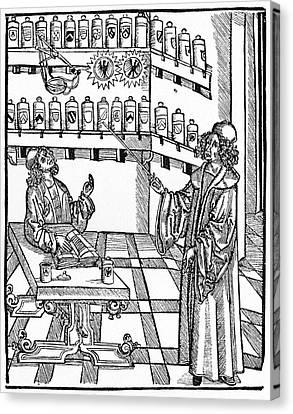 16th Century German Pharmacy School Canvas Print