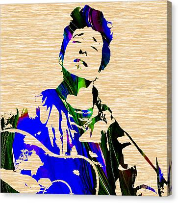 Bob Dylan Canvas Print - Bob Dylan Collection by Marvin Blaine